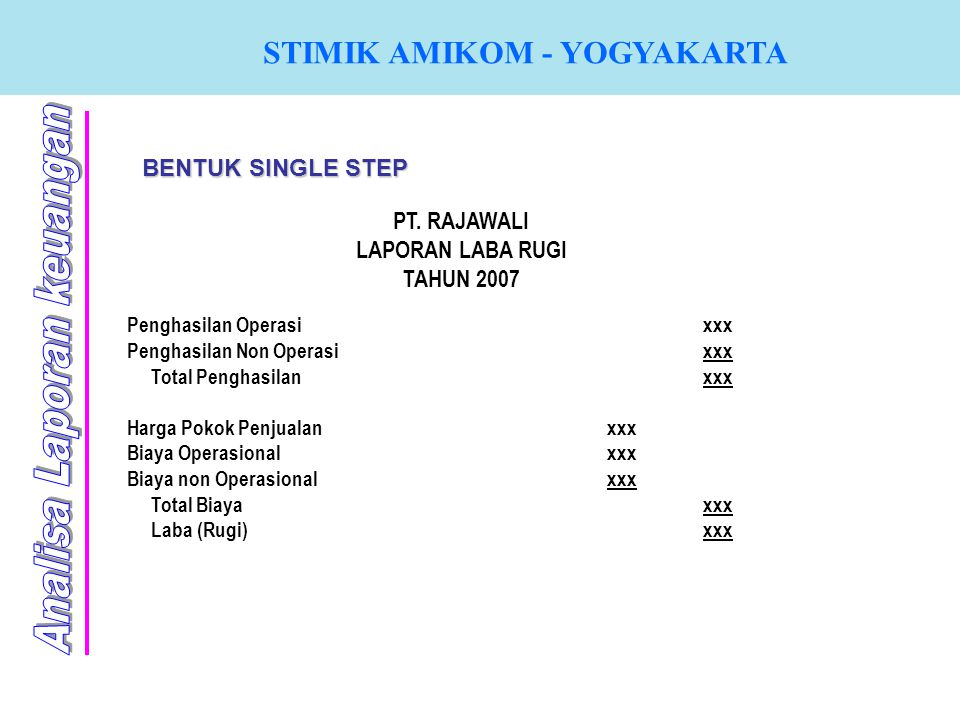 BENTUK SINGLE STEP PT.
