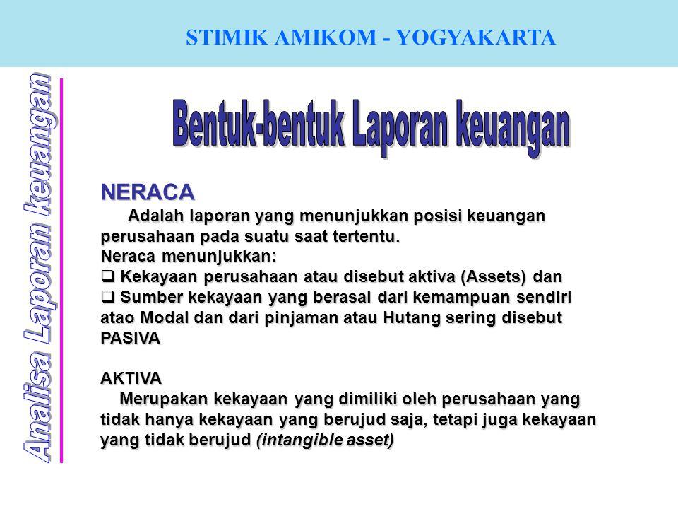 NERACA Adalah laporan yang menunjukkan posisi keuangan perusahaan pada suatu saat tertentu. Neraca menunjukkan:  K K K Kekayaan perusahaan atau di