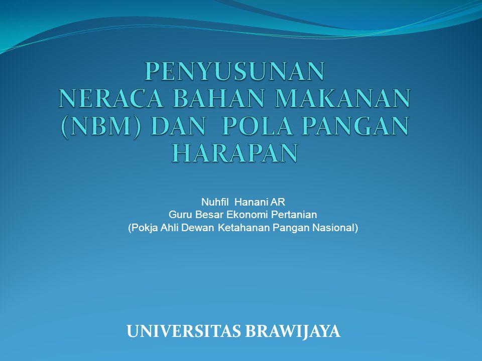 UNIVERSITAS BRAWIJAYA Nuhfil Hanani AR Guru Besar Ekonomi Pertanian (Pokja Ahli Dewan Ketahanan Pangan Nasional)