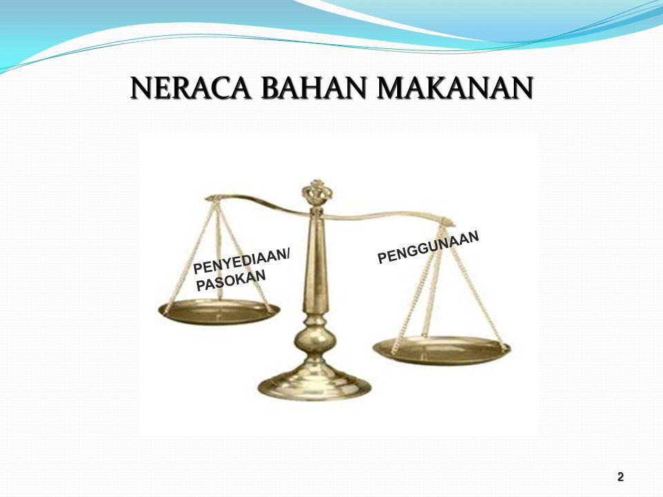 NERACA BAHAN MAKANAN PENYEDIAAN/ PASOKAN PENGGUNAAN 2