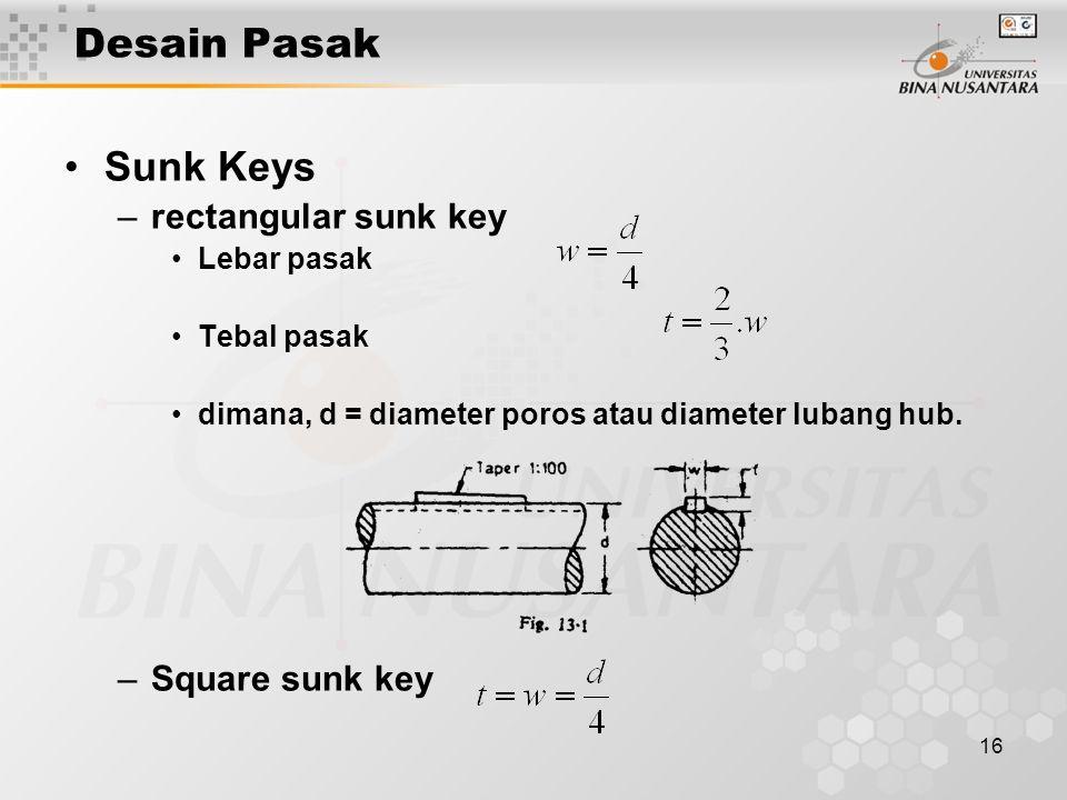 17 PASAK Gib head key Feather key Woodruff key Saddle Key