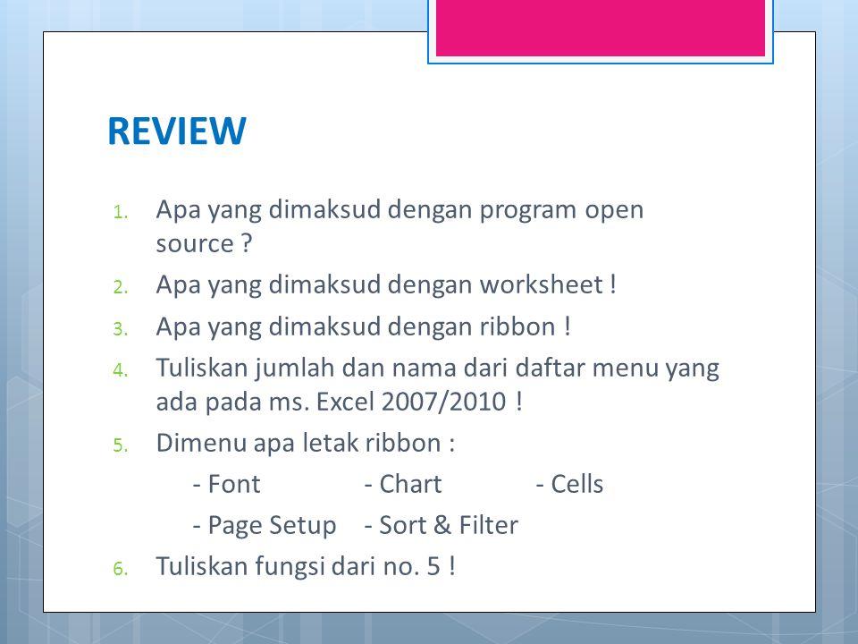 REVIEW 1.Apa yang dimaksud dengan program open source .