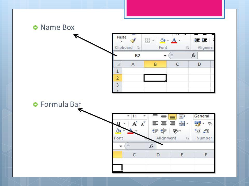  Name Box  Formula Bar