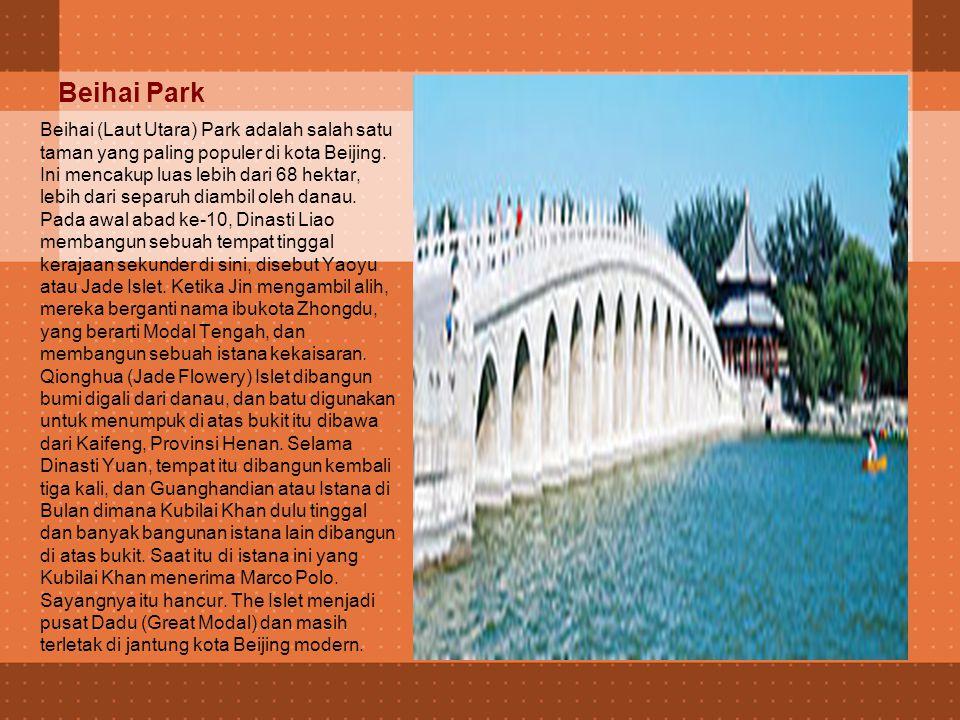 Olympic Park Terletak tepat di seberang Pangu 7 Star Hotel Taman Olimpiade, rumah Olimpiade 2008, Beijing Olimpiade Hijau adalah di mana Anda akan menemukan terkenal Sarang Burung stadion dan menarik Water Cube .