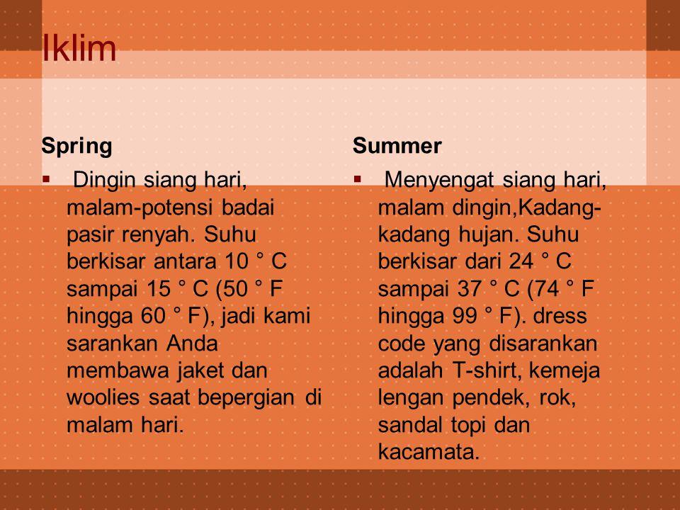 Iklim  iklim Beijing adalah sedang dengan empat musim yang berbeda: Musim dingin dari bulan Desember sampai Februari Summer dari bulan Juni sampai September.