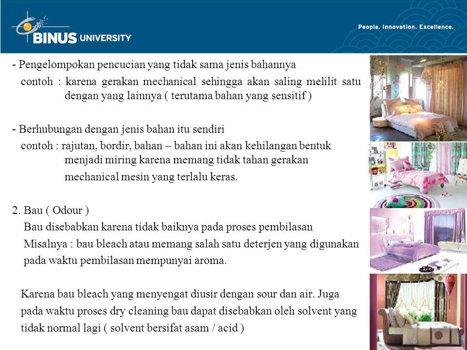 Bina Nusantara University 6  Peran dari Housekeeping : 3.