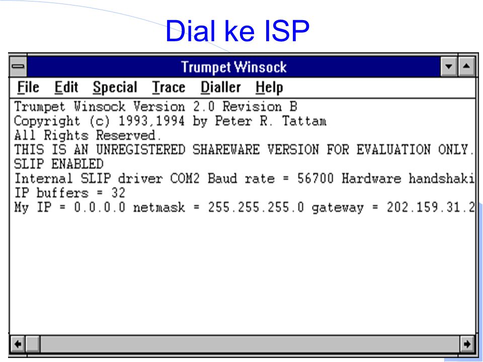 Computer Network Research Group ITB Dial ke ISP