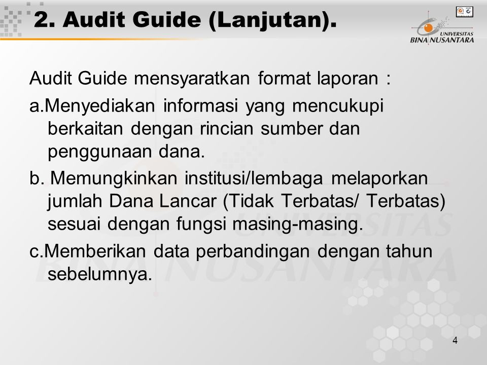 4 2.Audit Guide (Lanjutan).
