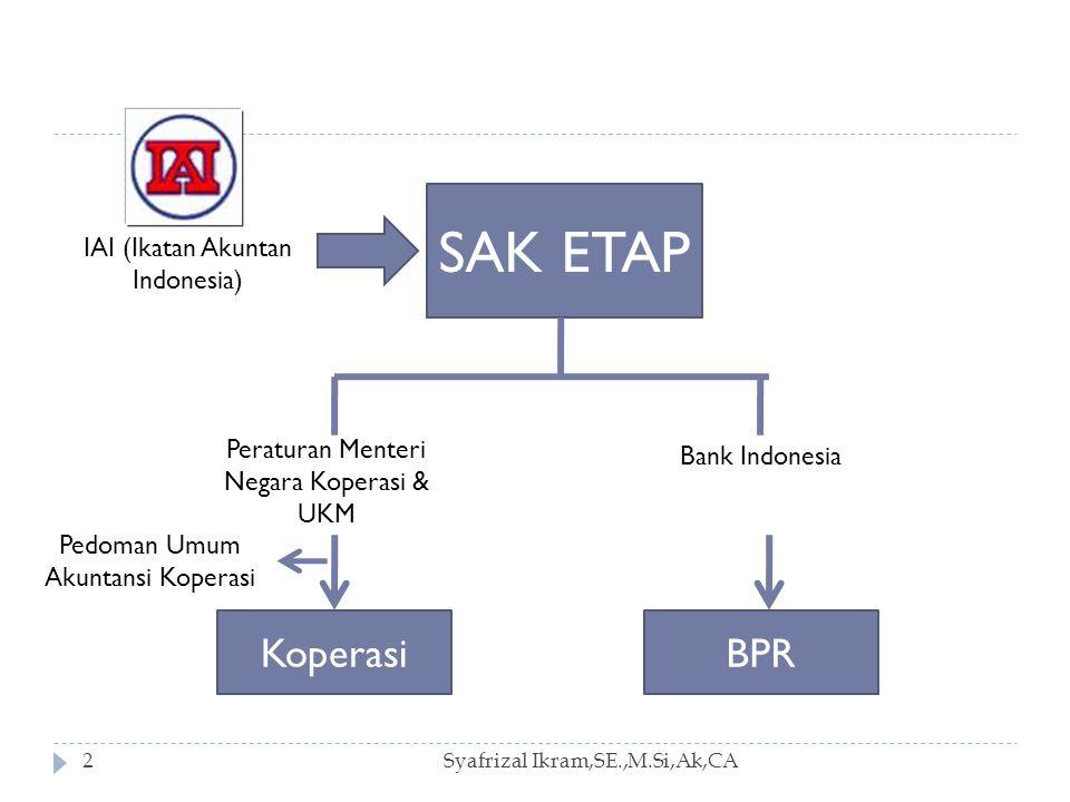 Syafrizal Ikram,SE.,M.Si,Ak,CA13 Entitas harus menyusun laporan keuangan, dengan menggunakan dasar akrual, kecuali laporan arus kas.