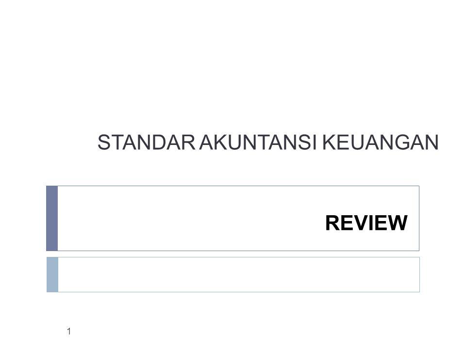 STANDAR AKUNTANSI KEUANGAN REVIEW 1
