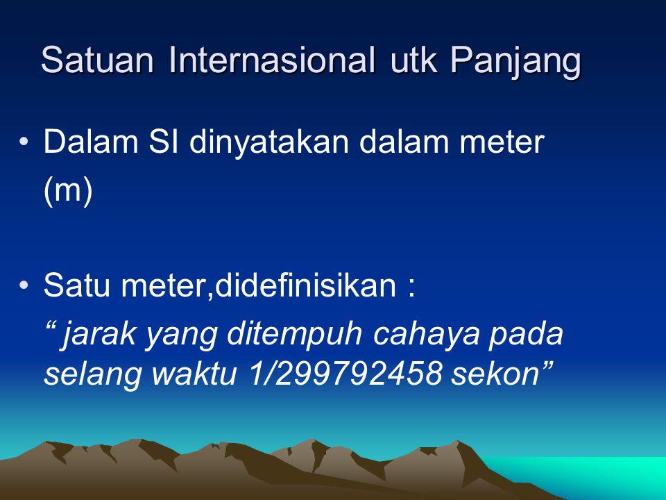 Penyelesaian no 1 : a.2000 m = …cm m menuju cm berarti turun 2 tangga maka dikalikan 10 n =10 2 = 100 2000 m = 2000 x 100 = 200000 cm = 2.10 5 cm Jadi 2000 m = 200000 cm = 2.10 5 cm