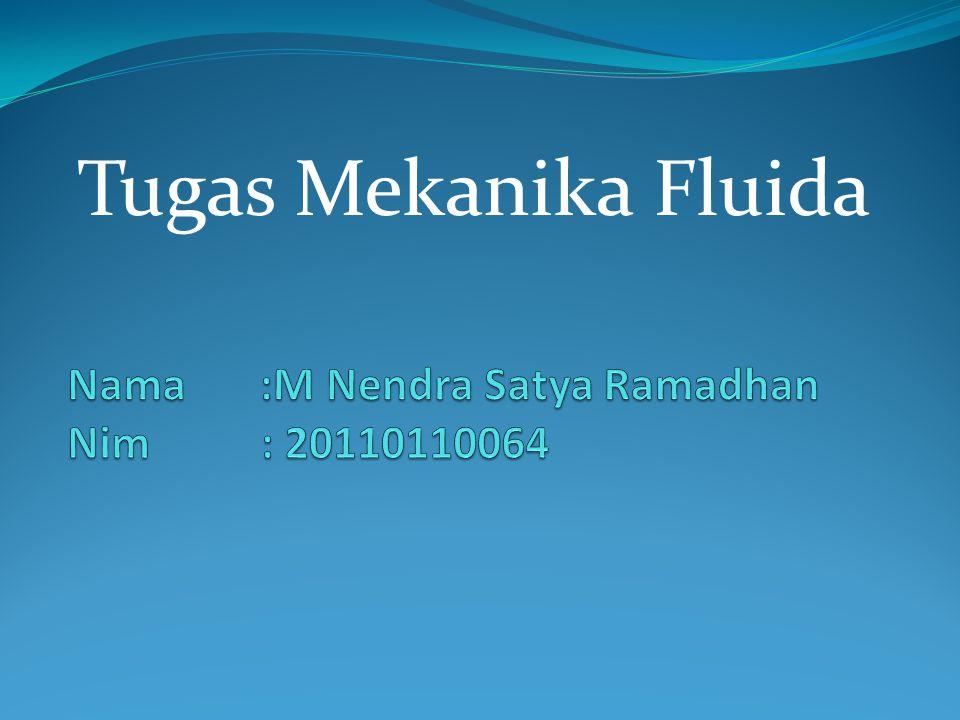 Tugas Mekanika Fluida