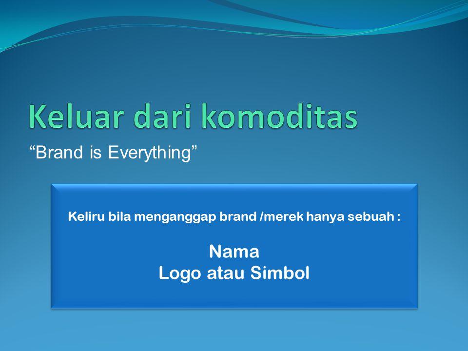"""""""Brand is Everything"""" Keliru bila menganggap brand /merek hanya sebuah : Nama Logo atau Simbol Keliru bila menganggap brand /merek hanya sebuah : Nama"""