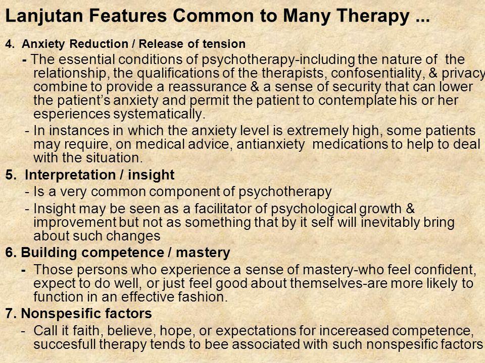 Technique of Behavioral Therapy 1.