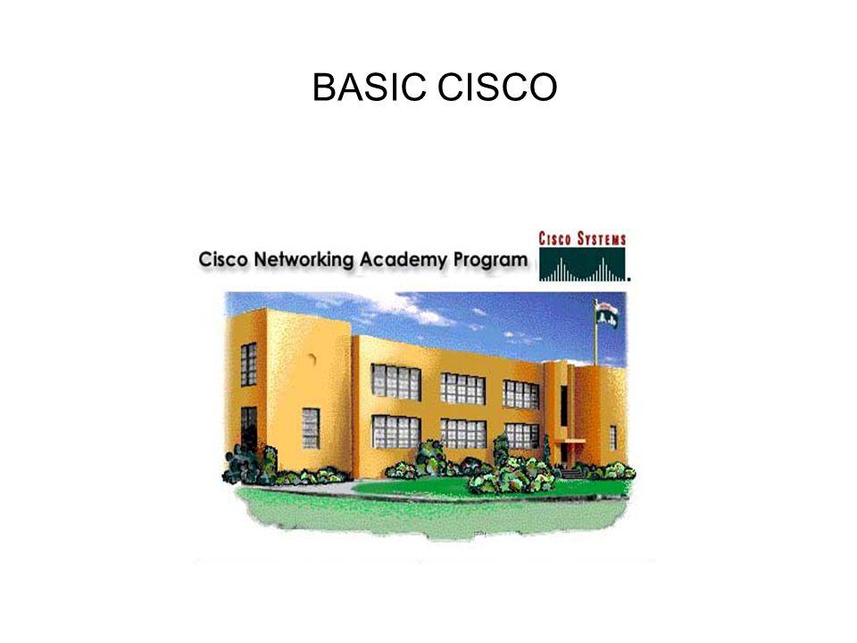 Memakai Cisco Cisco dapat dikonfigurasi melalui 3 cara : Console : menggunakan cable console yang dihubungkan melalui serial port dan menggunakan hyperterminal atau minicom Telnet : melalui Jaringan, tetapi cara ini harus terlebih dahulu mengaktifkan IP address, Telnet login di Cisco device AUX : dimana CISCO dihubungkan dengan modem, kemudian di remote akses melalui jalur PSTN