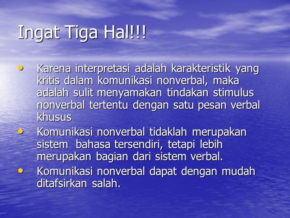 Ingat Tiga Hal!!.