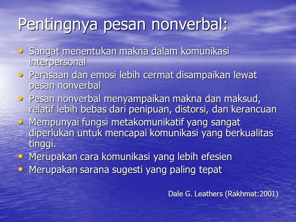 Fungsi Komunikasi Nonverbal Arni Muhammad: 1.Pengulangan 2.