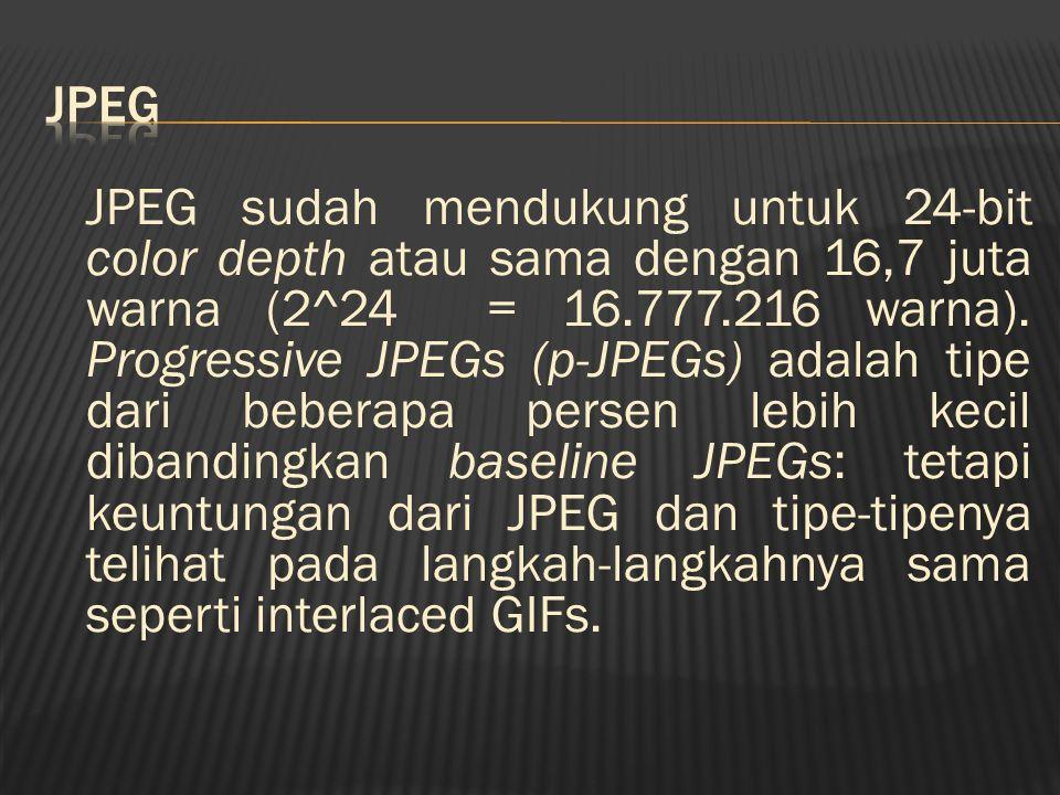 File PNG cocok digunakan untuk:  gambar yang memiliki warna banyak.