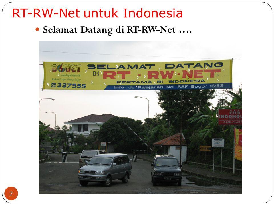 2 Selamat Datang di RT-RW-Net ….
