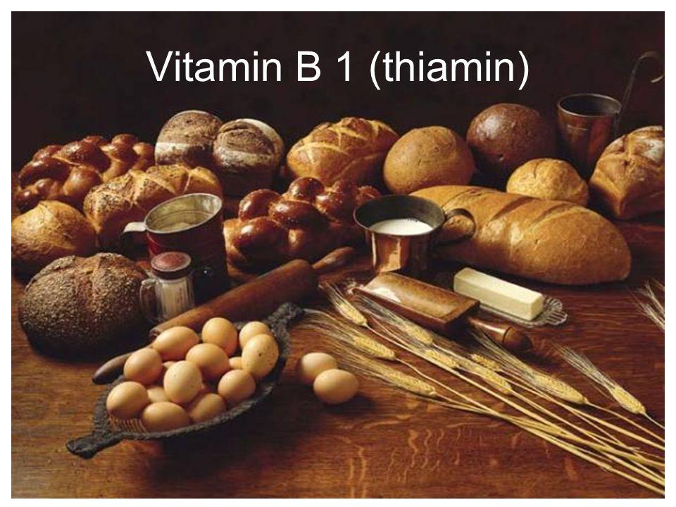 Pertama kali dikristalkan oleh Jansen & Donath th 1926 Salah satu dari kelompok vitamin B Kebiasaan mencuci beras berulang kali dapat menghilangkan kandungan Thiamin Berperan dalam penyembuhan penyakit beri-beri