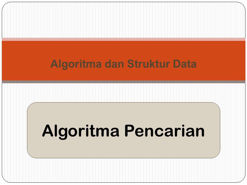 Algoritma Pencarian Algoritma dan Struktur Data
