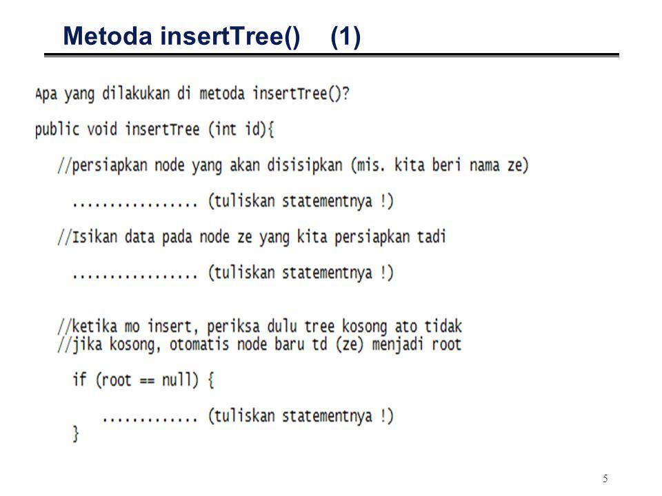 5 Metoda insertTree() (1)