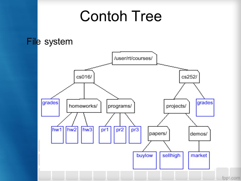 Contoh Tree File system