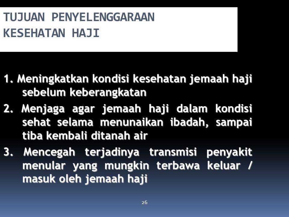 UU RI no. 13 tahun 2008 tentang Penyelenggaraan Ibadah Haji  Pasal 6 : Pemerintah berkewajiban melakukan pembinaan, pelayanan, dan perlindungan denga