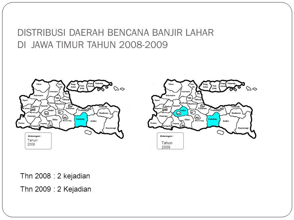 DISTRIBUSI DAERAH BENCANA KEBAKARAN HUTAN DI JAWA TIMUR TAHUN 2009 2 Thn 2009 : 2 kejadian