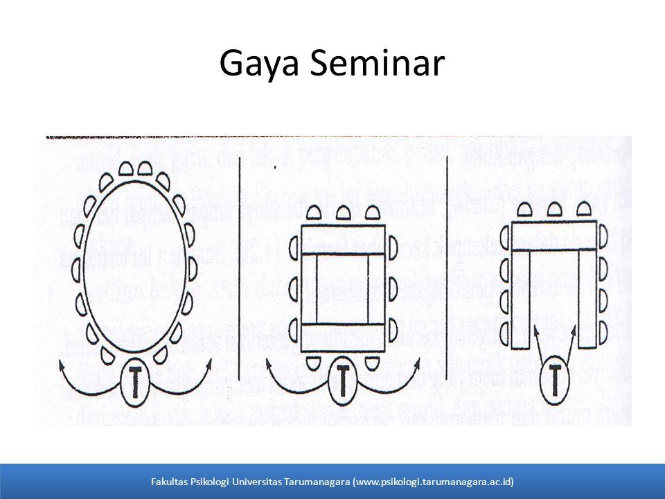 Gaya Seminar Fakultas Psikologi Universitas Tarumanagara (www.psikologi.tarumanagara.ac.id)