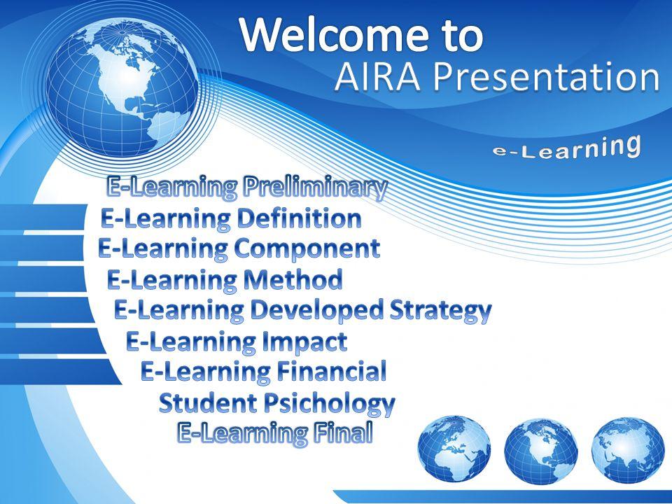 Definisi e-Learning E-Learning adalah pembelajaran jarak jauh (distance Learning) yang memanfaatkan teknologi komputer, jaringan komputer dan/atau Internet.