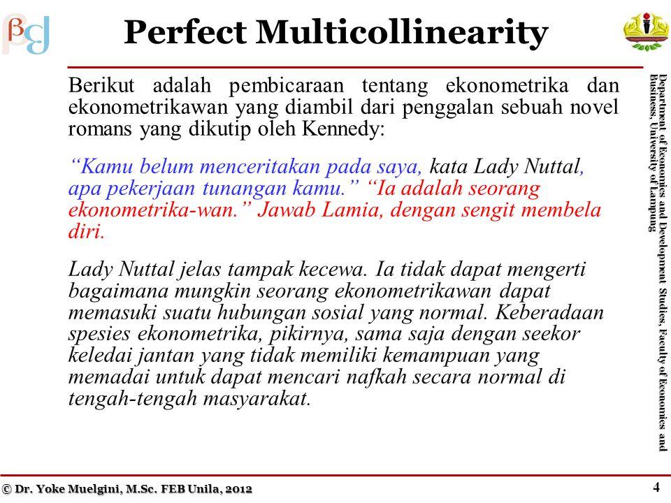 4 Perfect Multicollinearity © Dr.Yoke Muelgini, M.Sc.