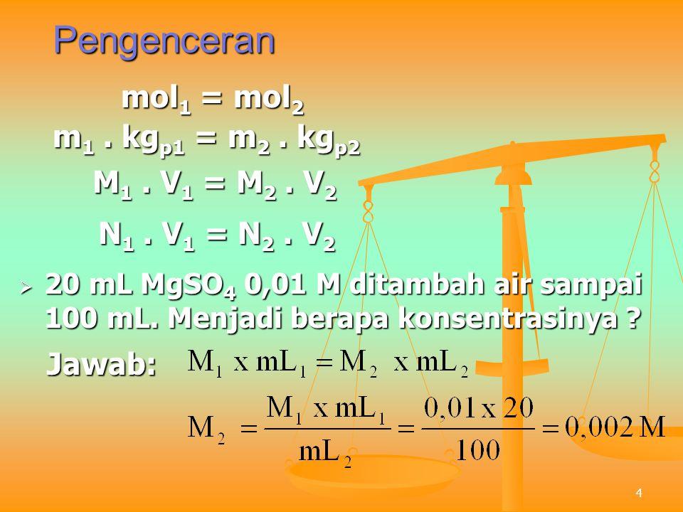 5 Pembatas Reaksi  2 mol C 2 H 5 OH direaksikan dengan 2 mol O 2.