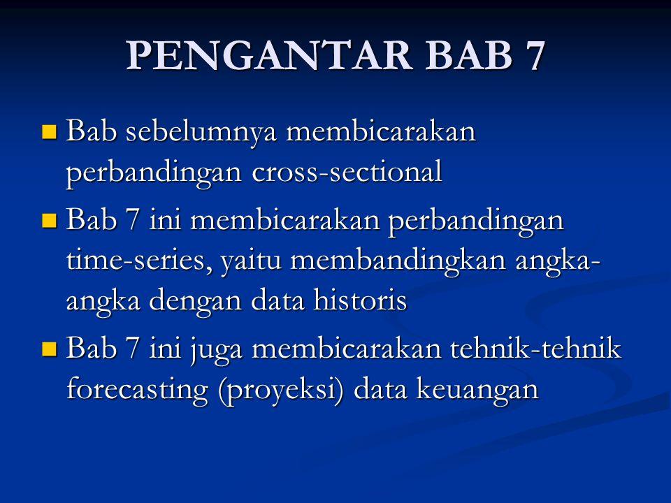 PENGANTAR BAB 7 Bab sebelumnya membicarakan perbandingan cross-sectional Bab sebelumnya membicarakan perbandingan cross-sectional Bab 7 ini membicarak
