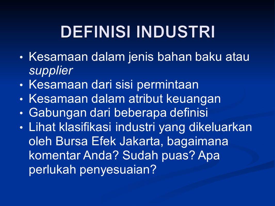 Bagaimana memperoleh data rata-rata industri.Bagaimana dengan perusahaan yang belum go-public.