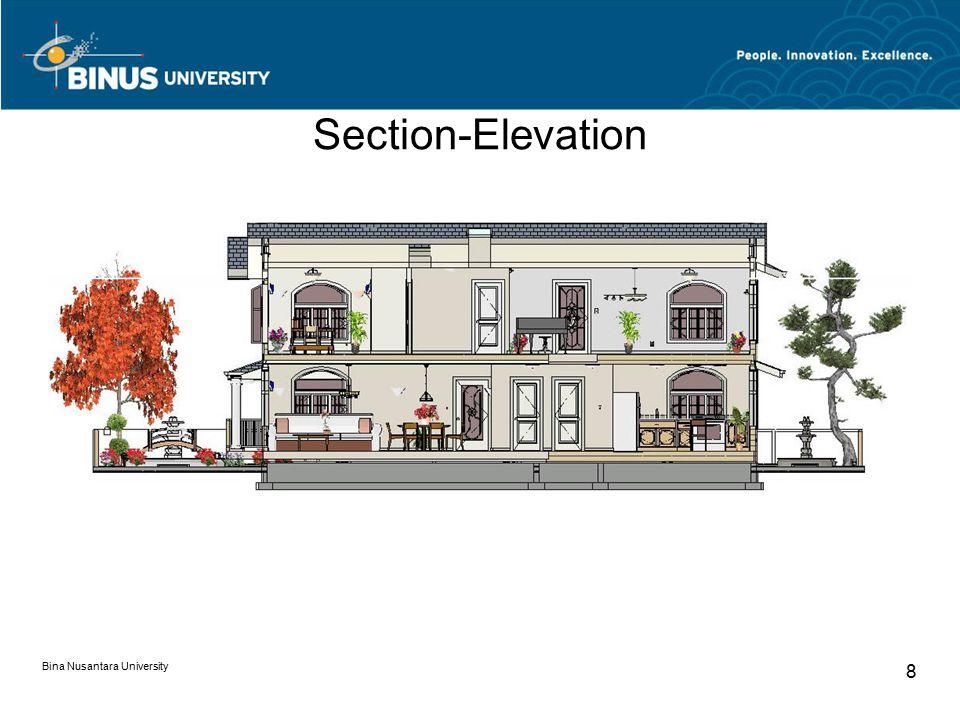 Section-Elevation Bina Nusantara University 8