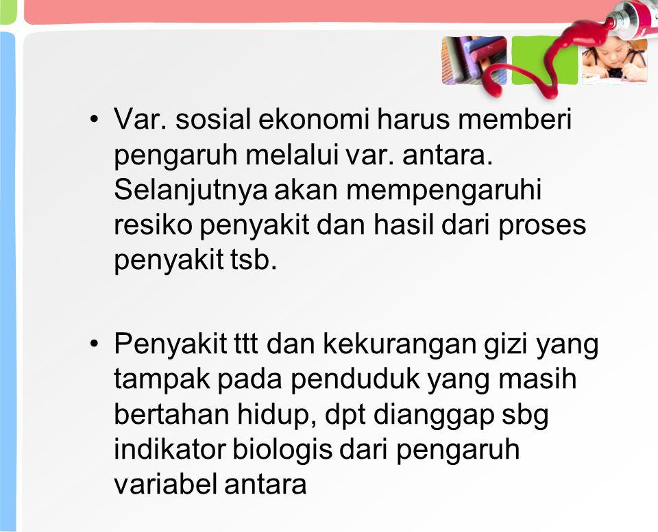 Var.sosial ekonomi harus memberi pengaruh melalui var.