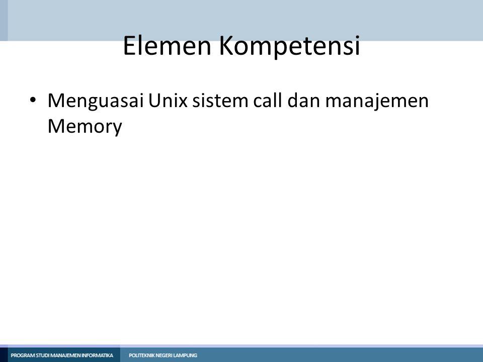Kriteria Kinerja Mahasiswa diharapkan mampu: – Menggunakan system call fork, wait dan execl pada Linux.