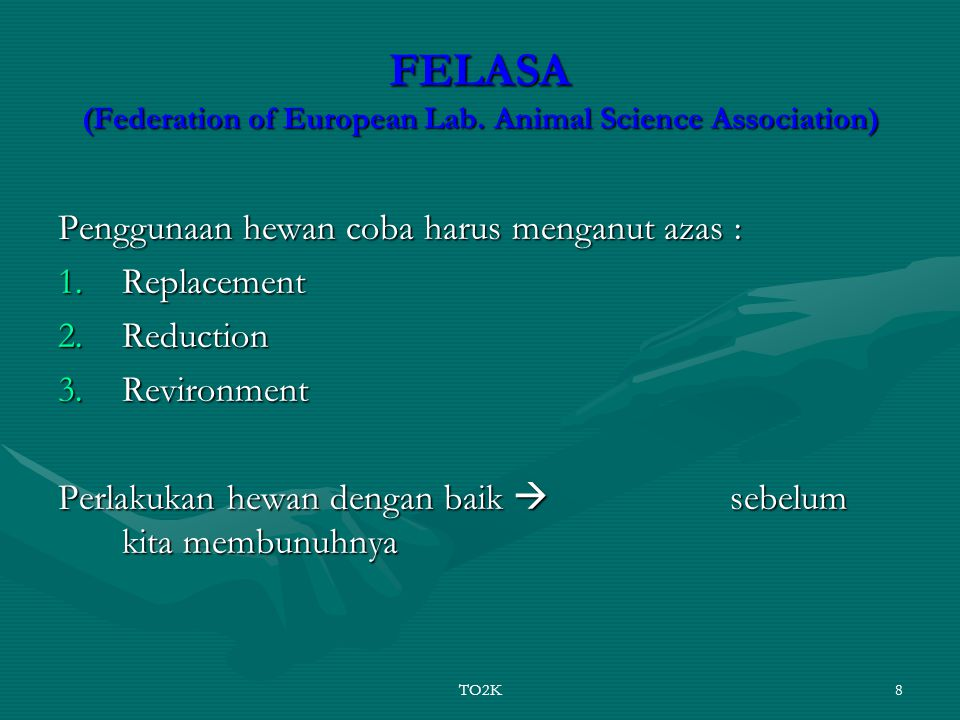 TO2K8 FELASA (Federation of European Lab.