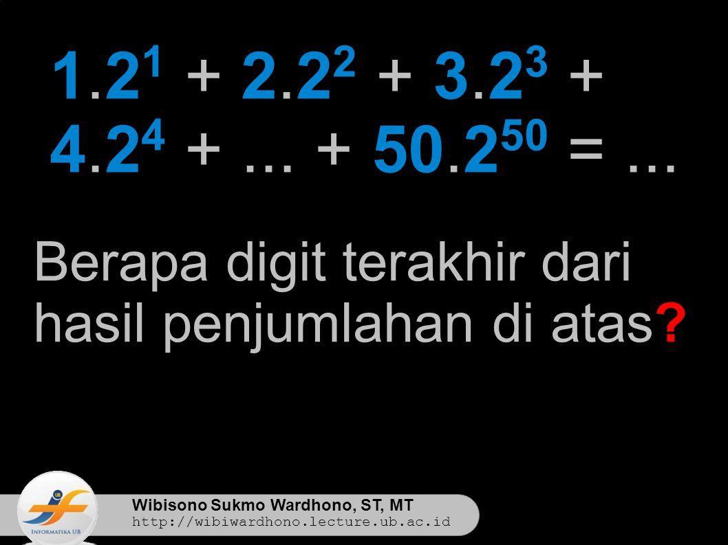 Wibisono Sukmo Wardhono, ST, MT http://wibiwardhono.lecture.ub.ac.id 1.2 1 + 2.2 2 + 3.2 3 + 4.2 4 +...