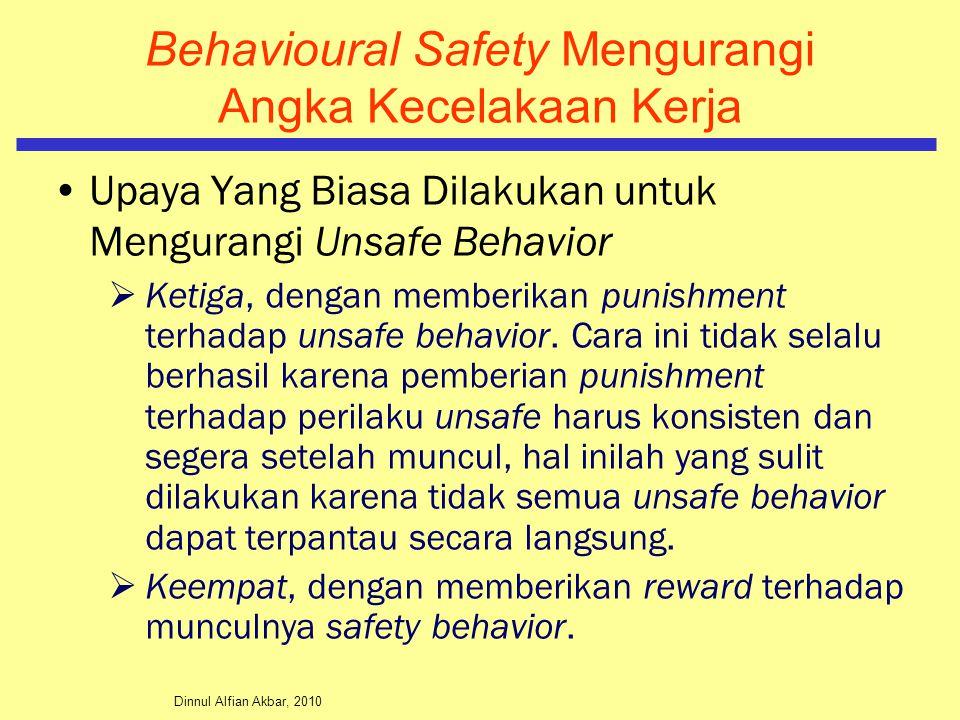 Dinnul Alfian Akbar, 2010 Behavioural Safety Mengurangi Angka Kecelakaan Kerja Upaya Yang Biasa Dilakukan untuk Mengurangi Unsafe Behavior  Ketiga, d