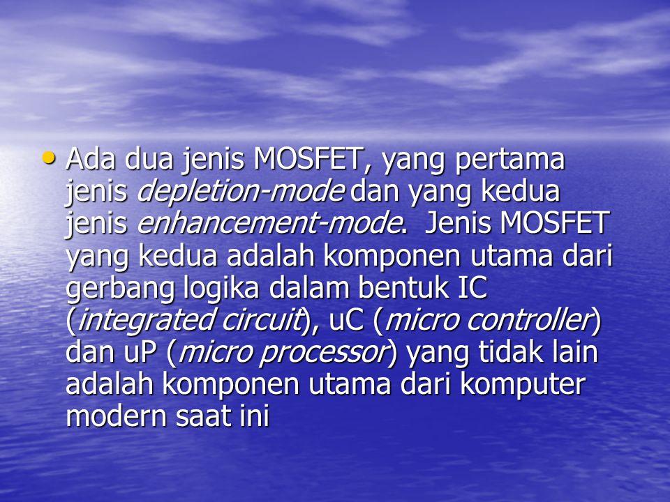 Ada dua jenis MOSFET, yang pertama jenis depletion-mode dan yang kedua jenis enhancement-mode. Jenis MOSFET yang kedua adalah komponen utama dari gerb
