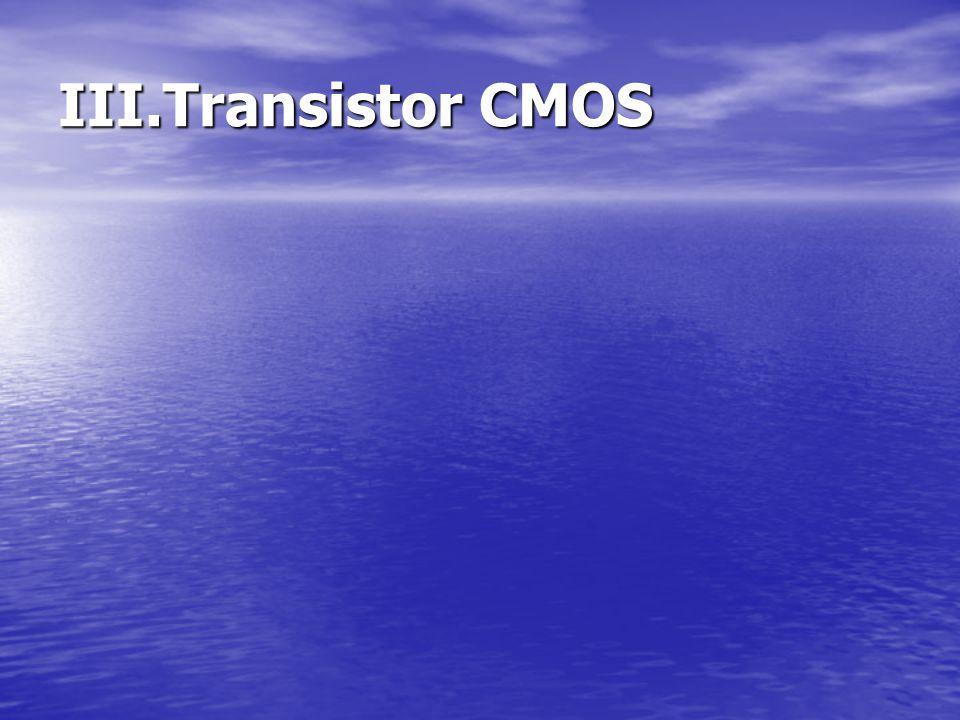III.Transistor CMOS