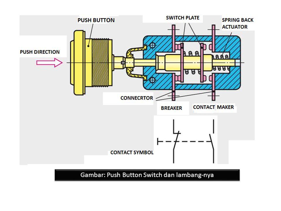 Gambar: Push Button Switch dan lambang-nya