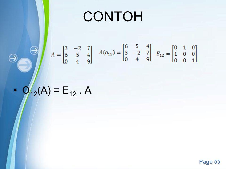 Powerpoint Templates Page 55 O 12 (A) = E 12. A CONTOH