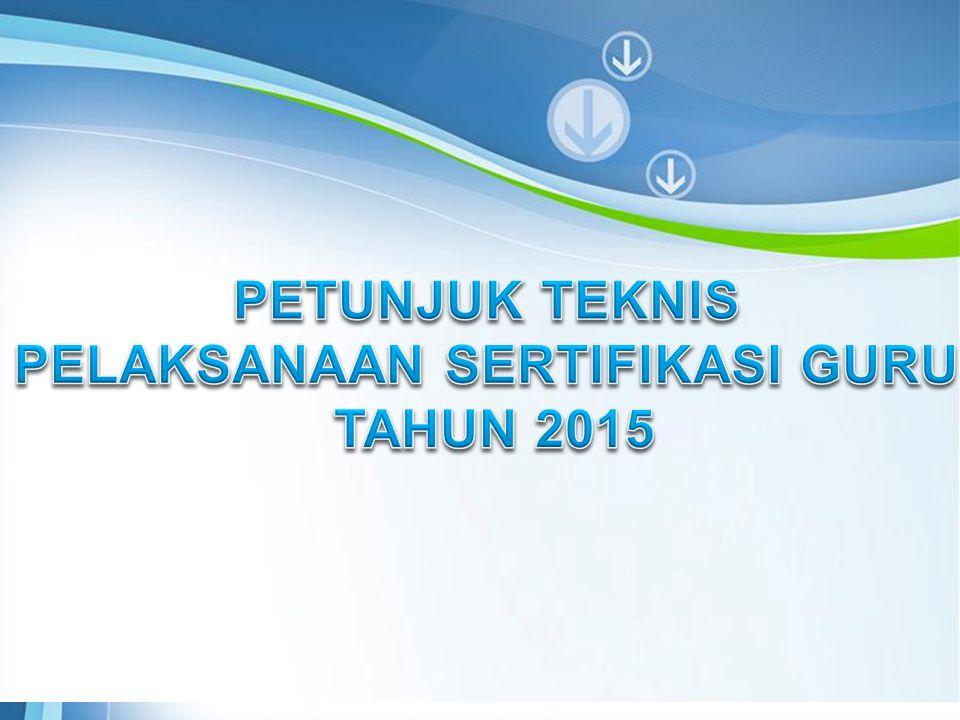 Page 2 ALUR SERTIFIKASI GURU Sesuai dengan Permendiknas no 11 Tahun 2011, Guru dalam jabatan dapat mengikuti sertifikasi melalui salah satu pola: 1.