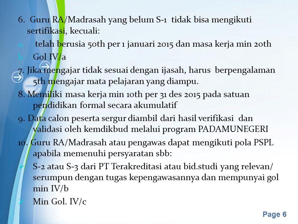 Powerpoint Templates Page 7 PROSES PENETAPAN PESERTA SERTIFIKASI GURU