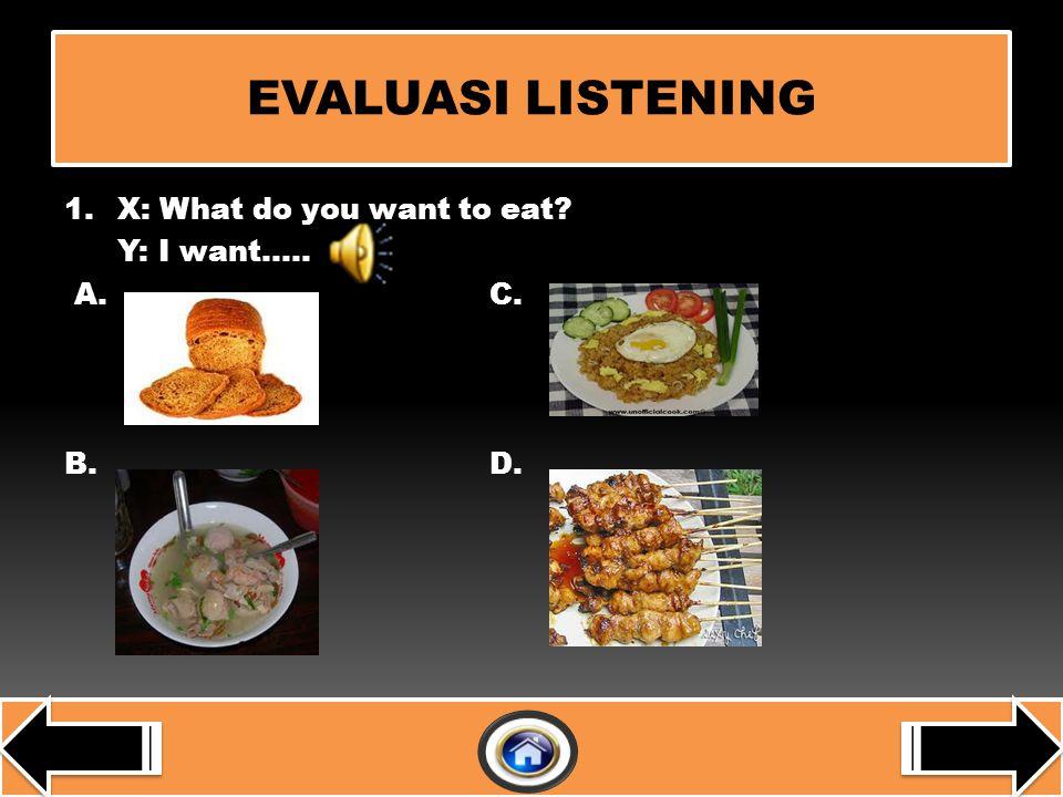 EVALUASI LISTENINGLISTENING LISTENINGLISTENING WRITINGWRITING WRITINGWRITING 1 1 2 3 3 4 4 2 2 3 3 1 1 5 5