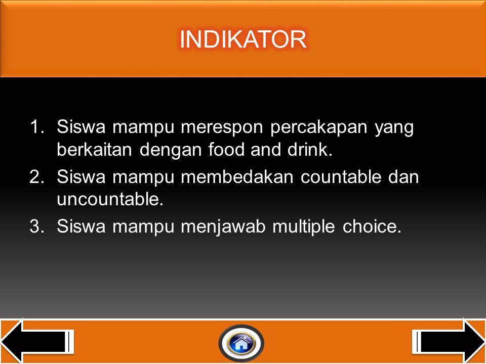 LISTENING 1.Merespon instruksi sangat sederhana secara berterima dalam kegiatan di dalam dan di luar kelas.