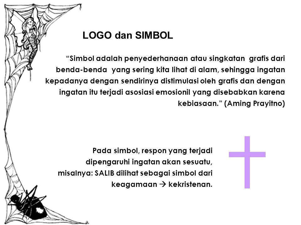 Kesimpulannya: LOGO adalah cap dagang suatu produk atau perusahaan yang pada mulanya berupa bentuk- bentuk tak terucapkan, seperti gambar atau initial